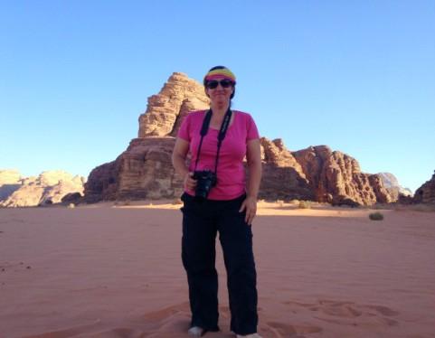 Dans le désert du Wadi Rum, en Jordanie.