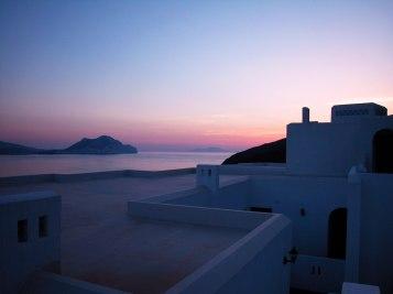 Coucher de soleil à Amorgos (Grèce)