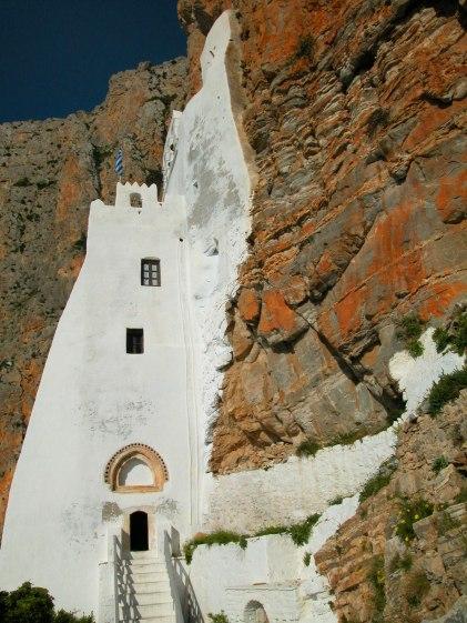 Le Monastère d'Hozoviotissa, sur l'île d'Amorgos.