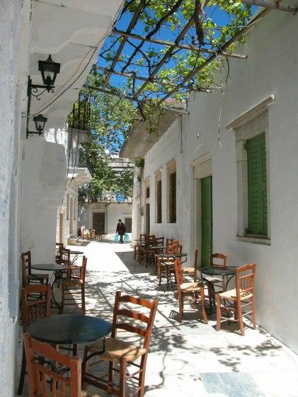 Dans les ruelles d'Amorgos (Grèce)