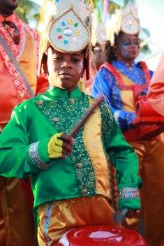 Même les enfants participent activement au carnaval, en Martinique.