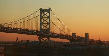 Sur les rives du fleuve Delaware, à Philadelphie.