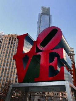 Statue Love: l'emblème de Philadelphie.