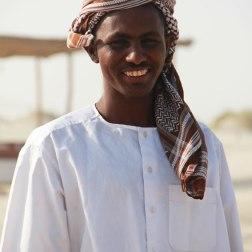 Un gardien de dromadaires, au Qatar.