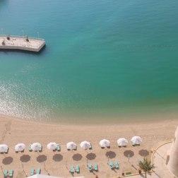 La plage d'un hôtel, à Doha. (Qatar)