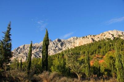 La montagne Sainte-Victoire, près d'Aix-en-Provence.