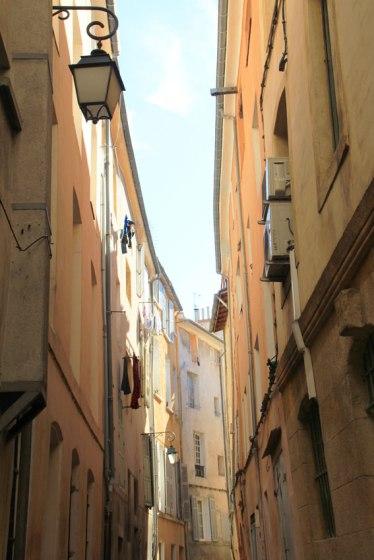 Dans la vieille ville d'Aix-en-Provence