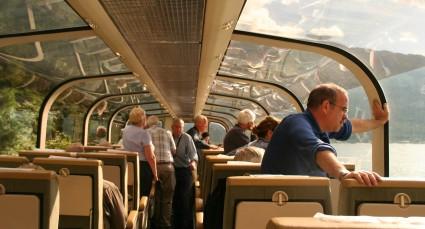 Dans le wagon panoramique du Rocky Mountaineer.