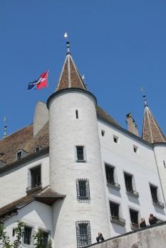 Le château de Nyon, dans le Canton de Vaud. (Suisse)