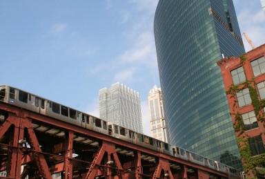 Le métro (ou tram) aérien, à Chicago.