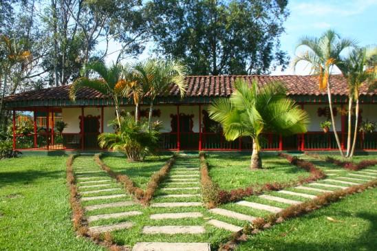 Une hacienda de café, en Colombie.