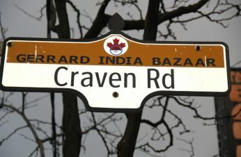 Little India ou Gerrard India Bazaar, à Toronto.