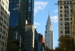 Dans le centre-ville de Manhattan
