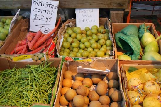 marchés d'alimentation dans le quartier de Little India (Toronto)