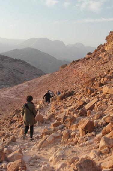 Randonnée matinale avec le guide du Feynan Ecolodge