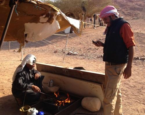 Notre guide Suleiman et son père. (Jordanie)