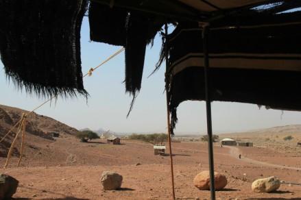 Tente de bédouins, près du Feynan Ecolodge (Jordanie)