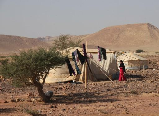 Des tentes de bédouins, dans la Réserve de Dana (Jordanie)
