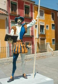 Une statue de Don Quichote, dans la région de La Mancha