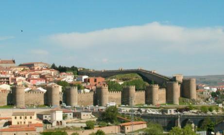 Les remparts d'Avila, en Espagne