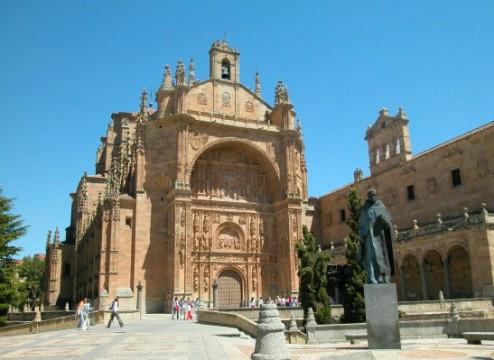 Le portail de l'Université de Salamanca, en Espagne