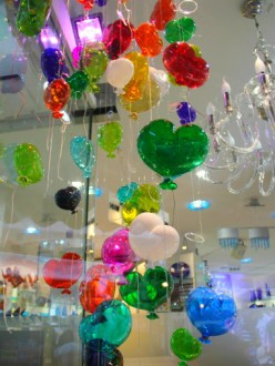 Boutique de verre, sur l'île de Burano