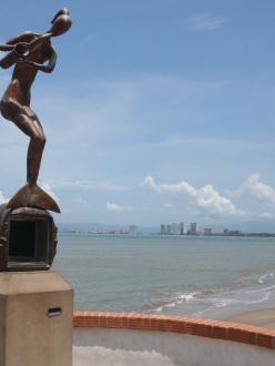 Sculptures sur le Malecon de Puerto Vallarta