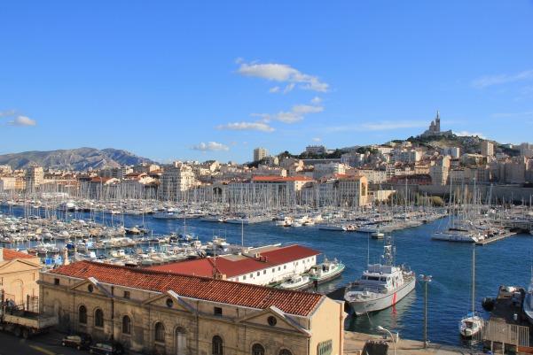 Vue générale du port, à Marseille.