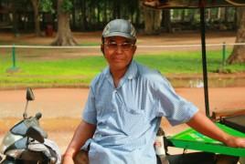 chauffeur de tuk tuk à Siem Reap