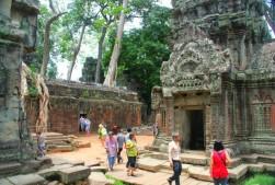 Sur le site de Ta Prohm, Siem Reap.
