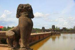 Sur le site d'Angkor Vat, à Siem Reap.