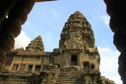 Sur le site d'Angkor Wat , à Siem Reap.