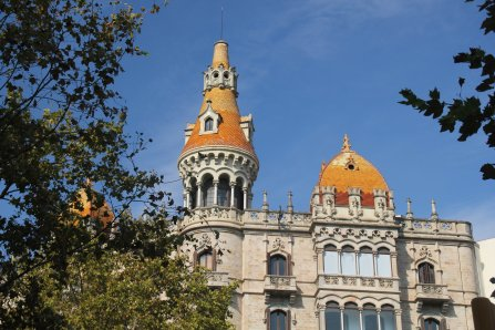 Sur l'élégant Passeig de Gracia, à Barcelone