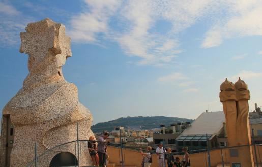 Sur la terrasse de La Pedrera, à Barcelone.