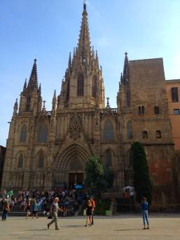 La cathédrale, dans le quartier gothique de Barcelone.