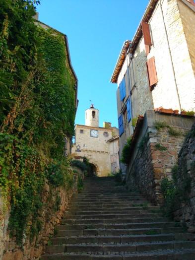 Cordes-sur-ciel - escalier