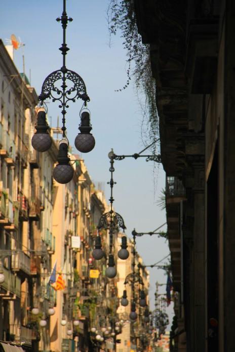 Les beaux lampadaires du quartier gothique.