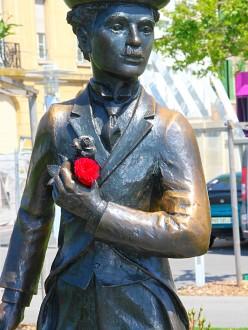 Statue de Chaplin, à Vevey