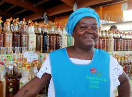 Au marché de Basse-Terre, en Guadeloupe