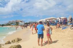 La plage Maho, à Saint-Martin.