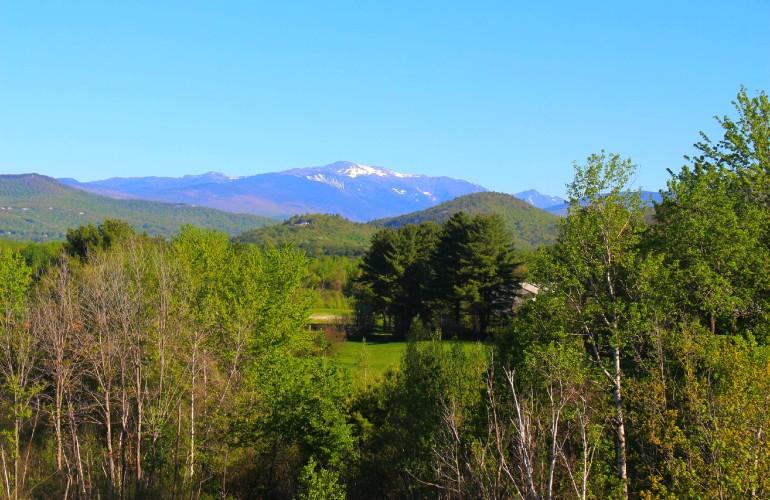 La vue des montagnes, à partir de North Conway