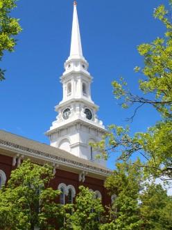 Église, dans le quartier historique de Portsmouth