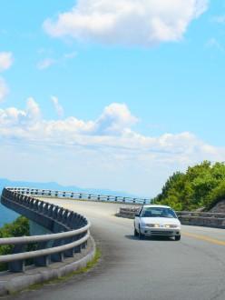 Le viaduc Linn Cove est un chef d'oeuvre d'ingénierie