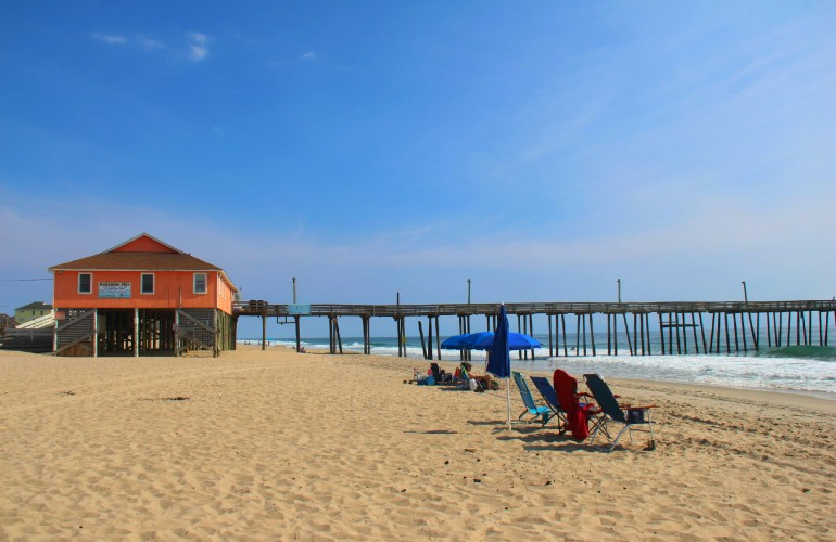 plage et quai de Rodanthe