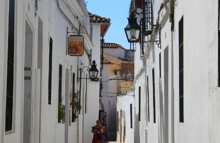 Ruelle, dans la vieille ville de Cordoue, en Andalousie.