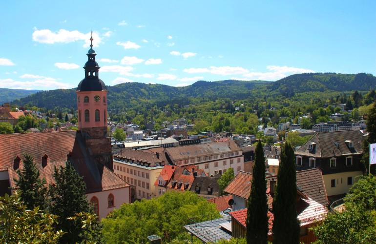 vue de Baden-Baden, dans la région de la Forêt noire