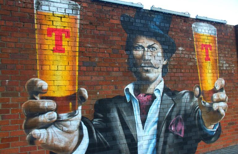 Murale de la brasserie Tennent's, Glasgow