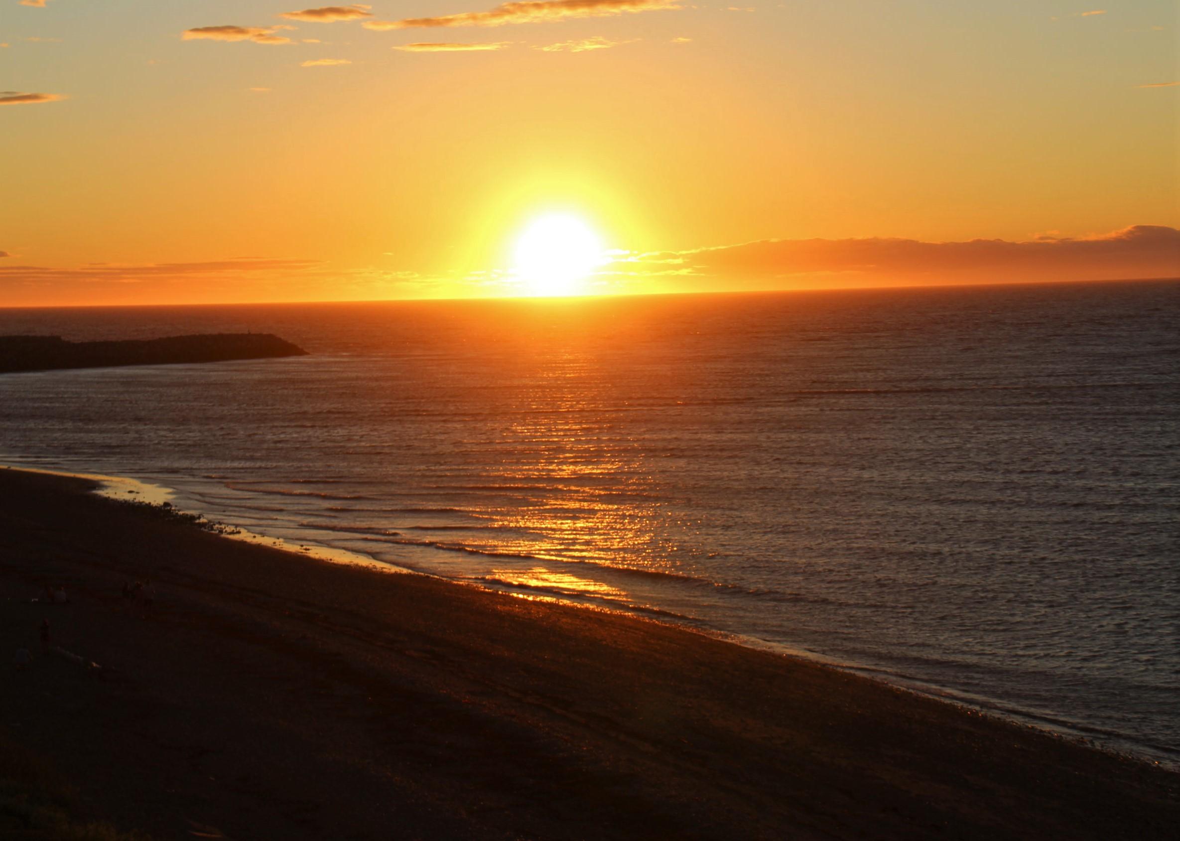 Coucher de soleil à Matane, en Gaspésie.