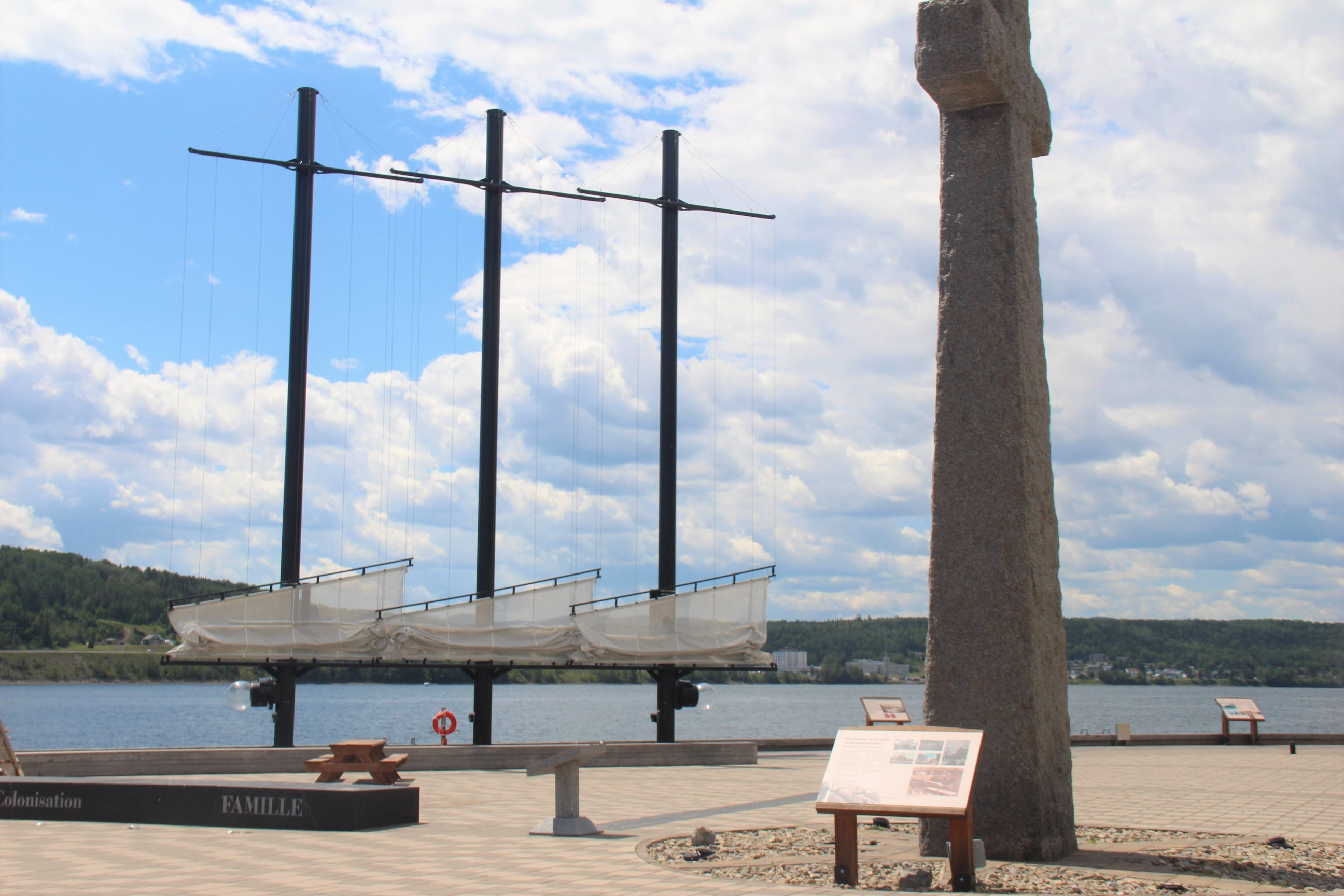 Lieu historique du Berceau du Canada, à Gaspé.