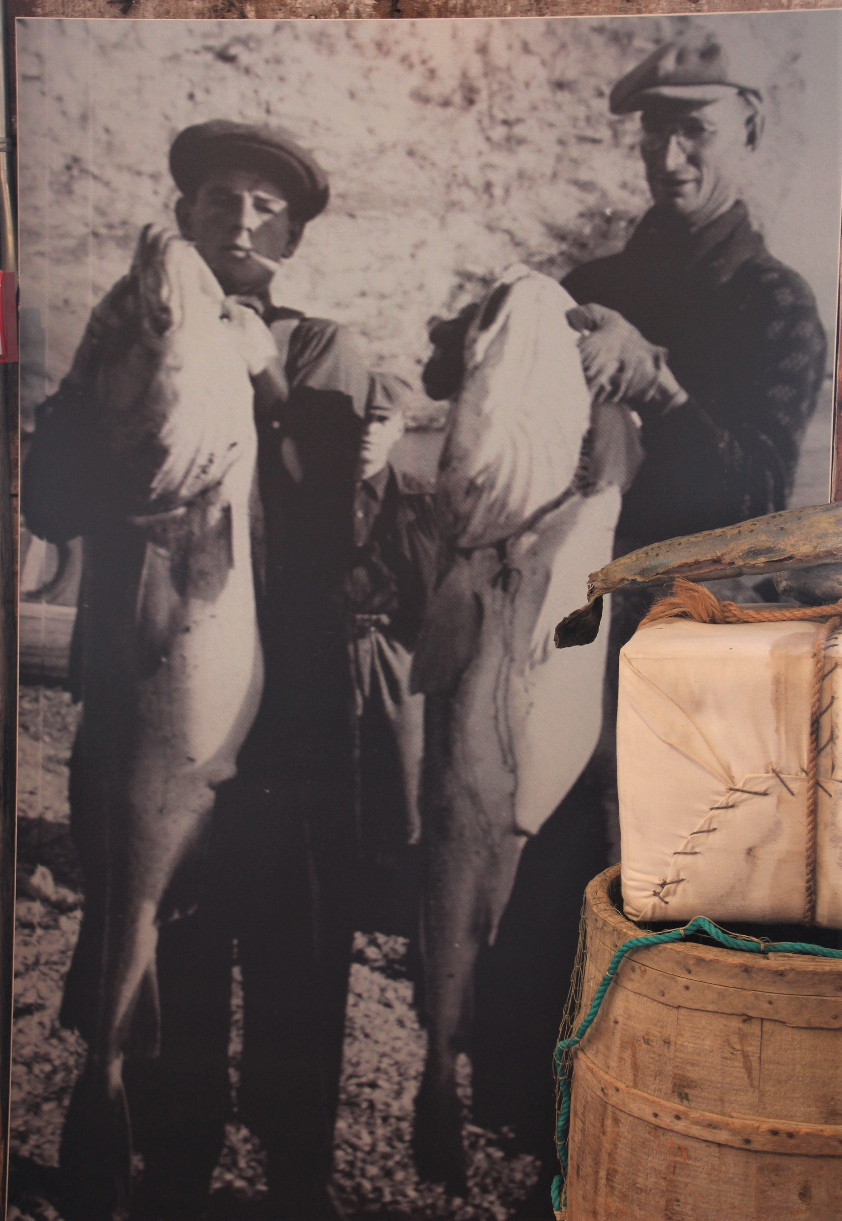 A Paspébiac, l'histoire des pêcheurs de morue de la Gaspésie.